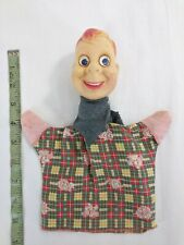 Vintage Howdy Doody Hand Puppet with Vinyl Head and Googly Eyes Used with Wear