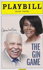 The Gin Game signed Playbill james earl jones