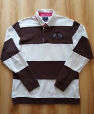 Hackett Mens Striped Rugby Shirt. Size L