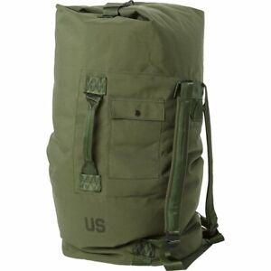 US Military Army DUFFEL /  SEA BAG LUGGAGE Top Load 2 Strap OD NYLON