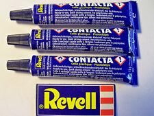 3 tubes Polystyrène Ciment Revell Contacta 13 G 39602 pour Revell Airfix etc Kits