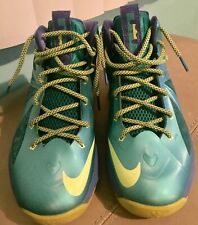 Nike Lebron 10 X Youth 6.5y Sport Turquoise Volt Sprite