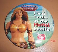 MOTU CLASSICS matty TEELA he-man COMIC CON sdcc PIN MOTUC mattel toy