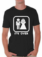 da4c51111667 It's Over Funny T-Shirt Marriage Wedding Party Groom Couple Love T-Shirt