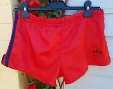 Vtg 80s/90s Adidas Shiny Glanz Sports Shorts Red XS West Germany