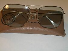 1970's 58[]16mm VINTAGE B&L RAY BAN GP PHOTOCHROMIC CARAVAN AVIATOR SUNGLASSES