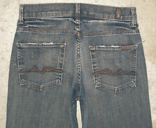 7 For All Mankind Ginger Jeans Sz 27 High Waist Flare Distressed London LON L 32
