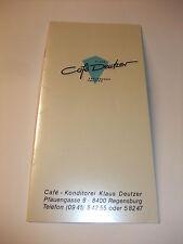 Speisekarte Getränkekarte Café - Konditorei Klaus Deutzer Regensburg DM Preise