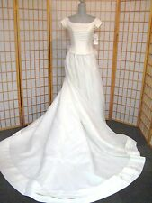 Oleg Cassini 8427 Ivory Wedding off shoulder bride bridal gown dress 4 NEW $599
