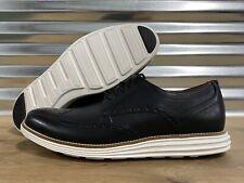 Cole Haan Original Grand Short Wing Wingtip Shoes Black Leather SZ ( C26469 )