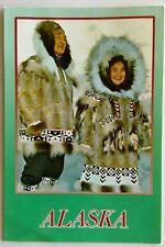 Alaska Eskimo Couple in beautiful parkas 1993 Postcard (P296)