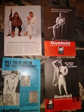 Vintage Magazine Print Ads 1966,67 DUOFOLD Men's Underwear 5 1/4W X 7.5H Good