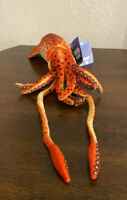 """Rinco SQUID Octopus 22"""" Plush Rust Brown Spotted Realistic 2012 Stuffed Animal"""