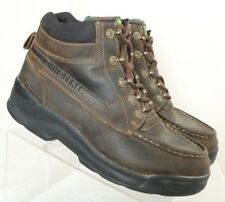 John Deere Florsheim Slip Resist Brown Moc Ankle Work Boots Men's US 10M