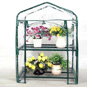 2 Layer Small Greenhouse Outdoor Cover Plant Walk-in Garden Vegetable Shed