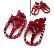 Red CNC Motorcycle Footrest Foot Peg Pedal For Honda XR250 XR400 XR350 XR600 650