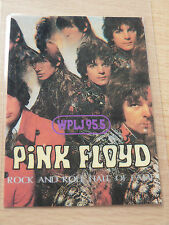 PINK FLOYD Laminated Commemorative Rock & Roll Hall Of Fame Pass