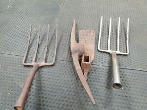 assorted used garden tools