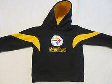 NFL Team Steelers Football Sweatshirt Hood Hoodie Black & Gold Boy Girl Kids 3T