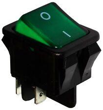 Interrupteur commutateur contacteur bouton à bascule vert DPST ON-OFF 16A/250V