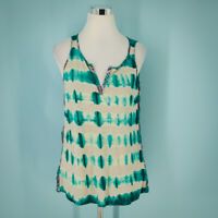 Anthropologie Language Size Small S Top Tank Silk Tie Dye Print Sleeveless