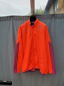 Adidas London Marathon Climalite Track Jacket running neon orange Men's 2XL
