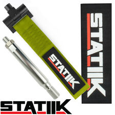 STATIIK OLIVE GREEN RACE TOWING STRAP FRONT BUMPER RACING STYLE TOW HOOK MINI