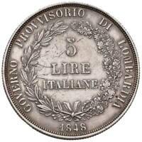 s1028) MILANO - Governo Provvisorio (1848) -  5 Lire 1848