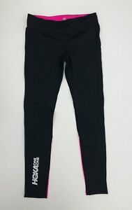 HOKA One One Women's Performance Crop Tights Black & Pink - Large - MSRP $88