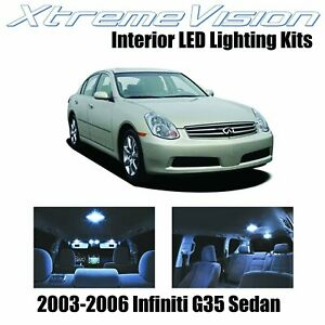 XtremeVision LED for Infiniti G35 Sedan 2003-2006 (7 Pieces) Cool White Premium.