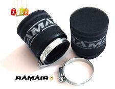 2x RAMAIR Moto - Scooter - PERFORMANCE COURSE Mousse Cosse Filtre à air 70mm