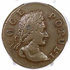 1760 N-10 R-5 PCGS XF 45 Tall Head Voce Populi Colonial Copper Coin 1/2p