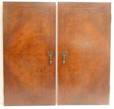 vintage * WESTRAD RADIO CONSOLE RADIO:  2 NICE WOOD DOORS w HINGES & KNOBS