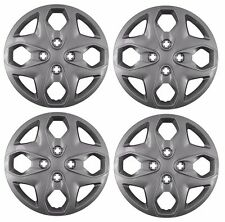"""NEW 2011-2013 Ford FIESTA 15"""" Bolt-on Wheelcover Hubcaps SET OF 4 SILVER"""