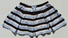 Gymboree Girls Best Friend Striped Skirt Size 5 Vintage  Dog Blue Brown