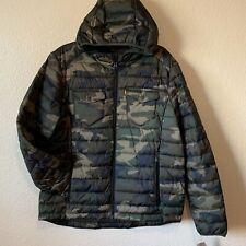 Levi's Men's Camo Size Large Hooded Puffer Jacket Camouflage Warm Winter Coat