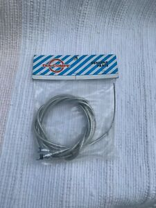 NOS Late 80's Dia Compe Clear Front & Rear Brake Cable Set