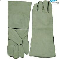 YNR® Snake Catcher Gloves Reptile Lizards Animal Handling Gloves Heavy Duty Grey
