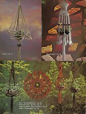Plant Hanger & Wall Hanging Patterns Macrame Reflections Lee Originals Book L711