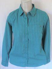 Tommy Hilfiger TOMMY HILFIGER polo cotone manica lunga fascia verde panna tg M shirt cotton