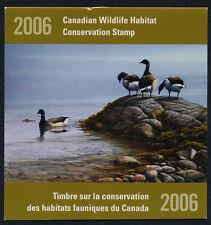 Canada FWH22 MNH Wildlife Conservation Stamp, Bird, Brant Goose