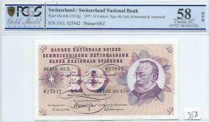 10 francs 1977 Switzerland PCGS AU-58 OPQ Pick 45u Suisse Schweizerisch franken