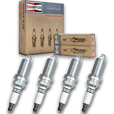4 pc Champion 446 Copper Spark Plugs REC12MCC4 - Auto Pre Gapped Ignition mu