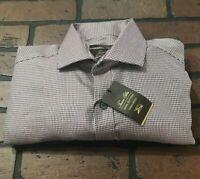 Tasso Elba Regular Fit Non Iron Dress Shirt Men's Size 15 34/35 Medium