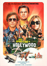 Once Upon a Time In Hollywood Poster 2019 Tarantino NEW, FREE P+P CHOOSE UR SIZE