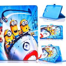 Cartoon Cute Minions PU Leather Magnetic Folio Case Cover For iPad 4 Air 2 Mini