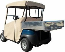 DoorWorks 3-Sided Golf Cart Cover - EZGO RXV Navy Blue - Sunbrella Canvas
