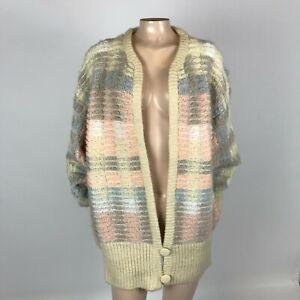 Vintage 80's Lindsay Scott Women's Sweater Large XL knit Oversized cardigan