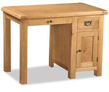 rustic wood office desk. Zelah Oak Small Home Office Desk / Solid Wood Rustic Deep New R
