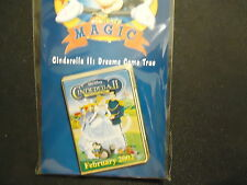 DISNEY DS 12 MONTHS OF MAGIC DVD CASE CINDERELLA II DREAMS COME TRUE PIN ON CARD